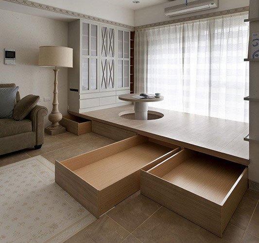 当风格家遇上榻榻米,成都定制家具空间收纳难题一网打尽